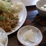 食事処 めし食うべ - 日替わり定食のチキン南蛮