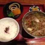 咲くら - ランチの肉そば定食@650円