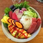 レキュム・デ・ジュール - 旬の有機野菜とハム卵ごはん(コーヒー付き950円)