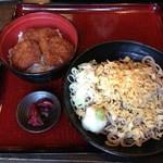 越前三国屋 - ソースカツ丼セット890円 + そば大盛り 100円
