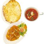 タージマハルエベレスト - シシカバブマサラ・チーズナンランチ