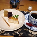 豆子郎 - 珈琲セット800円