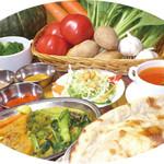 ナマステタージ マハル - 七種類の野菜を使ったヘルシーセット