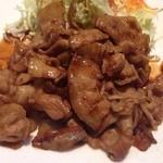 キッチンくま - 生姜焼きのアップ