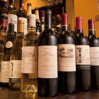 品揃え豊富なこだわりのワインをぜひご堪能くださいませ。