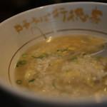 行徳家 - 残ったスープを使い(プラス150円) 雑炊