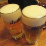 立呑み 龍馬 - 生ビール 370円