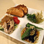 珍楽飯店 - ディナーセットの前菜。