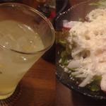 焼鳥ひろ - 酎ハイとサラダ
