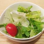 きゅうろく 鉄板焼屋 - ランチのサラダ(2013年12月)