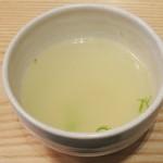 きゅうろく 鉄板焼屋 - ランチのスープ(2013年12月)