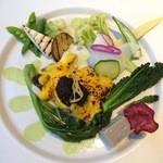 23024344 - 新 ランチ 鱸鮮魚のグラチネ 西京味噌とバルサミコのマリアージュ
