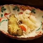いと賀 - 松葉ガニ釜揚げ(蒸し) 蟹身と蟹味噌は一緒に食べましょう
