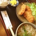 花ぜん - 料理写真:白身フライ定食(うどん付き)