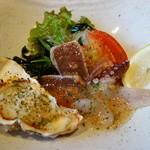 小城 - 鮪のカルパッチョと牡蠣のフロレンティーン