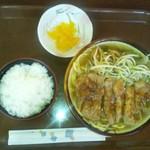 のりのり亭 - 豚ステーキ汁そば600円