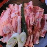カルビ屋三夢 - 肉のアップです。