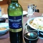 新世界 もつ鍋屋 - 赤ワイン♪