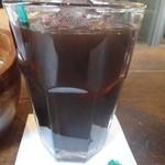 ボンダイカフェヨヨギビーチパーク - 食後のアイスコーヒー
