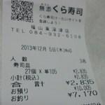 無添くら寿司 - レシート(2013.12.05)
