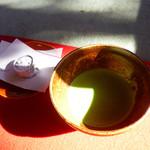 妙心寺山内 退蔵院 - 抹茶とお菓子