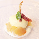 sfida - ドルチェ:リンゴのコンポート 白ワインゼリー  '13 11月下旬