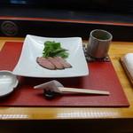 新寿し - 料理写真:お茶と前菜