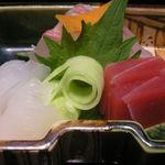 日本料理 つる家  - お造り(鯛、烏賊、鮪)