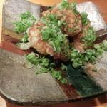 魚彩鶴巳 - 穴子の天ぷら、ネギ醤油で。850円