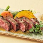 美山cafe - 一番人気の黒毛和牛のグリル