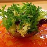 23049049 - ディナーメルシーコース(5000円) 前菜 ラ・フランスと魚介のファルス
