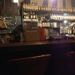 洋酒喫茶 どん底 - 夜はBARに(o^^o)♪角瓶がキープボトルようさんあります( ´ ▽ ` )ノ