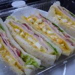 パンの実 - 料理写真:☆タマゴ&ハムのサンドイッチ(≧▽≦)~❤☆