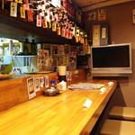 博多てんき屋 - 1階は12名分のカウンター席があり、2階には座敷があるそうです。