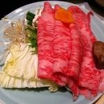 木曽路 徳川店 - しゃぶしゃぶ(肉・野菜盛)