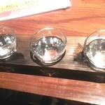 23052163 - 日本酒飲み比べセット(純米・純吟醸・大吟醸)