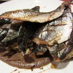23052944 - 新秋刀魚のワラ焼き.肝のソース