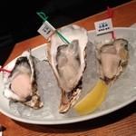 ごまや - 牡蠣の3種盛合せ