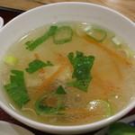 23054586 - パッカバオ+カイダーオラーカオ《ランチセット》(スープ、2013年12月)