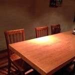 ごまや - テーブル席