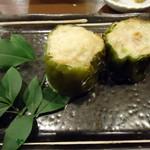 気ママーニ - 「ビーマン肉づめ」150円也。