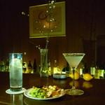 アスコット - 料理写真:ラムコリンズとマルガリータ、おかき