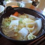 栃の実 - 根菜鍋