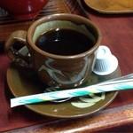 一二三食堂 - 食後にコーヒーが付きました。 これが、けっこう美味しくて。