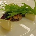 23067135 - 豚バラ肉のラッケ 大根のエチュベとレンズ豆を添えて