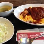 ポポロヒロバ - トロトロ卵のデミソースカツ丼【650円】