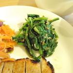 たね・かふぇ - 青菜の(ほうれんそう)胡麻味噌和え