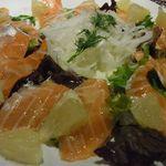 23070158 - ノルウェー産オーロラサーモンと季節の柑橘のマリアージュカルパッチョ