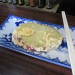 高橋酒店 - 芋天。レンジで温めて、ソースを用意してくれます