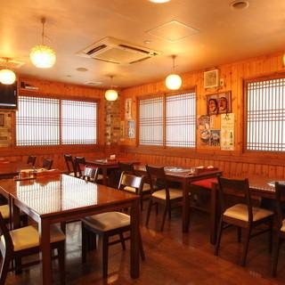 キッズスペース有り◎韓国らしさ溢れる寛ぎのアットホーム空間。